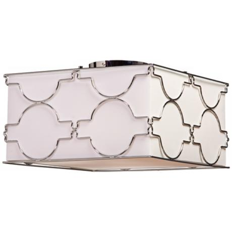 "Artcraft Morocco 16"" Wide Square Chrome Ceiling Light"