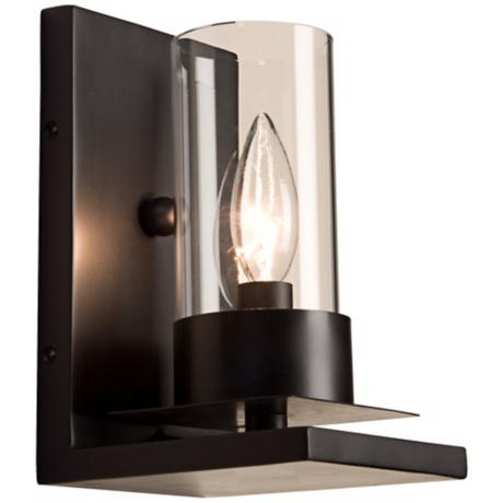 "Artcraft Crawford 8 1/2"" High Matte Black Wall Sconce"