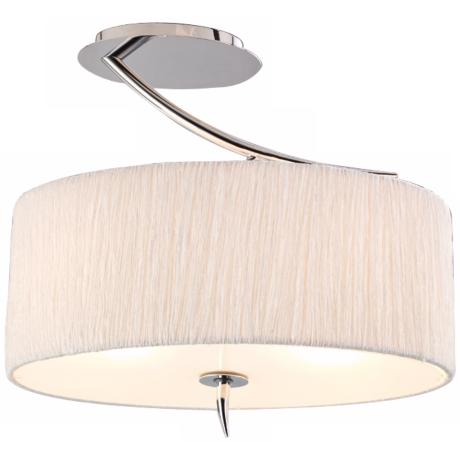 "Artcraft Sloan 16"" Wide Silk and Chrome Ceiling Light"