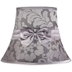 Grey Damask With Bow Shade 8x14x11 (Spider)