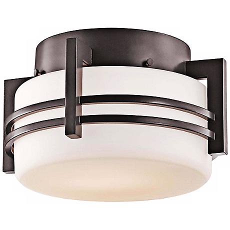 "Kichler Pacific Edge 10 1/2"" Bronze Ceiling Light"
