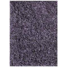 Platinum Shag PS-01 Graphite-Violet Area Rug