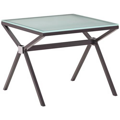 Zuo Xert Smoke Glass Modern Side Table