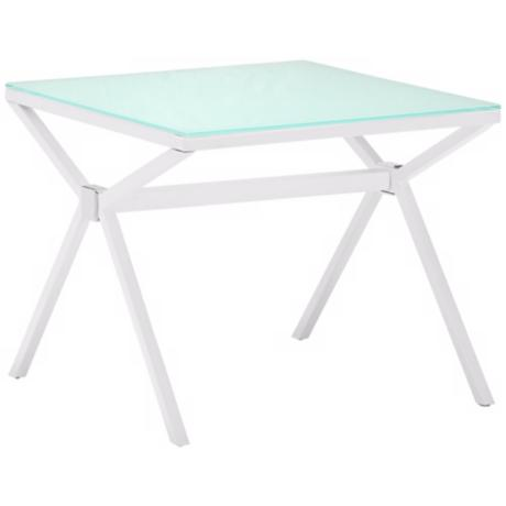 Zuo Xert White Glass Modern Side Table