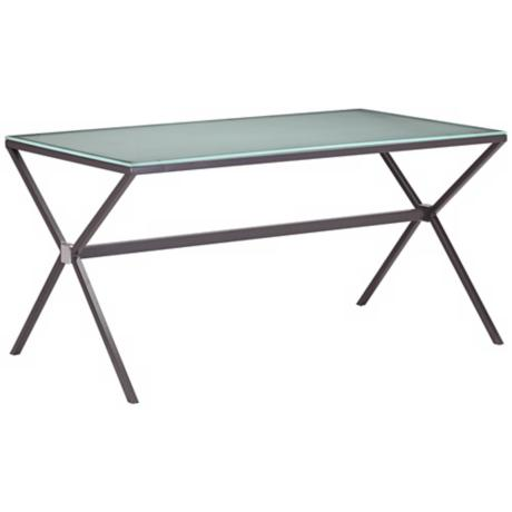 Zuo Xert Smoke with Frosted Glass Dining Table