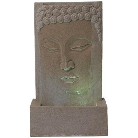 Sandstone Buddha LED Indoor/Outdoor Fountain