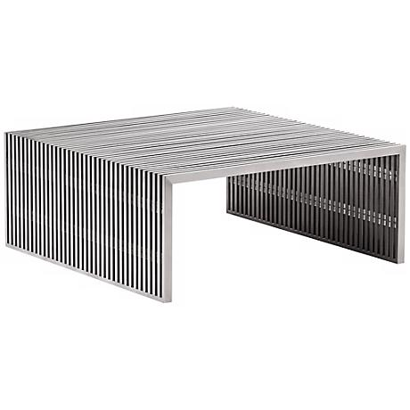 Zuo Novel Stainless Steel Square Coffee Table
