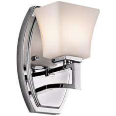 "Kichler Luciani 8"" High Opal Glass and Chrome Wall Sconce"