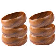 Pacific Merchants Acaciaware® Set of 6 Calabash Wood Bowls