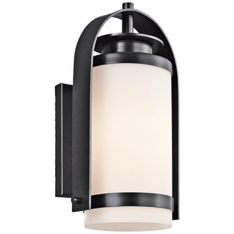 "Kichler Westport 14"" High Black Outdoor Wall Light"
