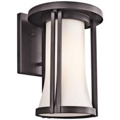 "Kichler Tiverton 14"" High Bronze Finish Outdoor Wall Light"