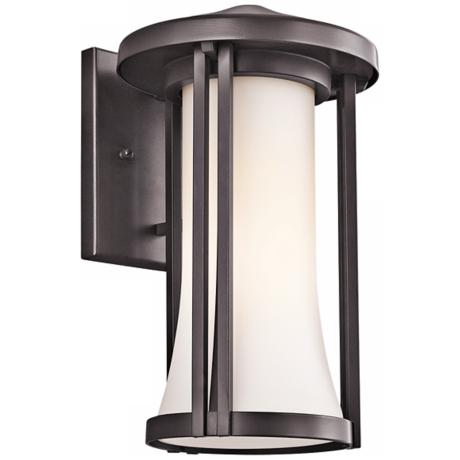 "Kichler Tiverton 12"" High Bronze Finish Outdoor Wall Light"