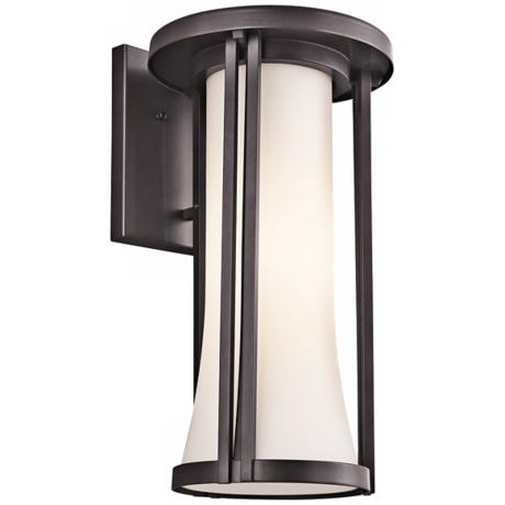 "Kichler Tiverton 18"" High Bronze Finish Outdoor Wall Light"