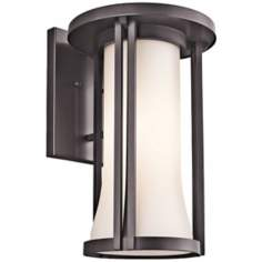 "Kichler Tiverton 19"" High Bronze Finish Outdoor Wall Light"