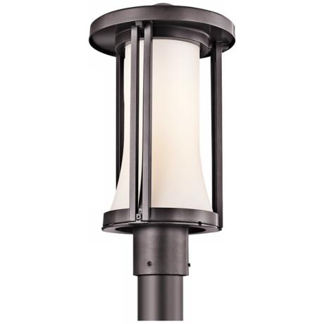 "Kichler Tiverton 17"" High Bronze Finish Outdoor Post Light"