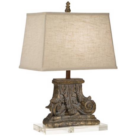 Regina-Andrew Capitol Crystal Base Table Lamp
