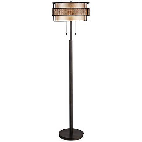 Quoizel Laguna Copper Mica/Tile Shade Floor Lamp