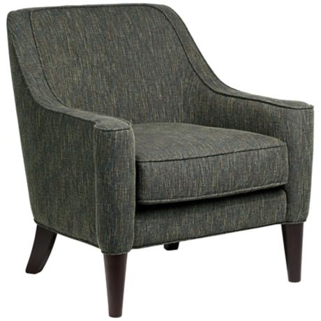 Lacey Multi-Color Threaded Olive Weave Armchair