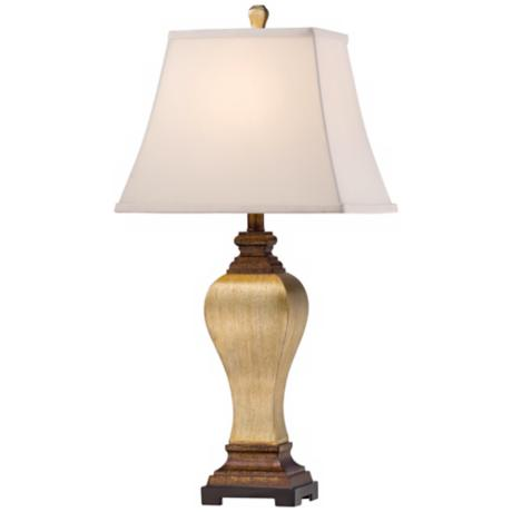 Edgar Silver Leaf and Brown Transitional Table Lamp
