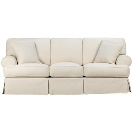Rachel Classic Natural Slipcover Sofa