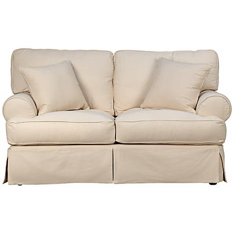 Rachel Classic Natural Slipcover Loveseat