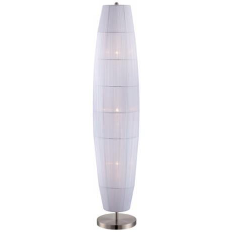 Lite Source Parvati White Organza Ribbon Floor Lamp