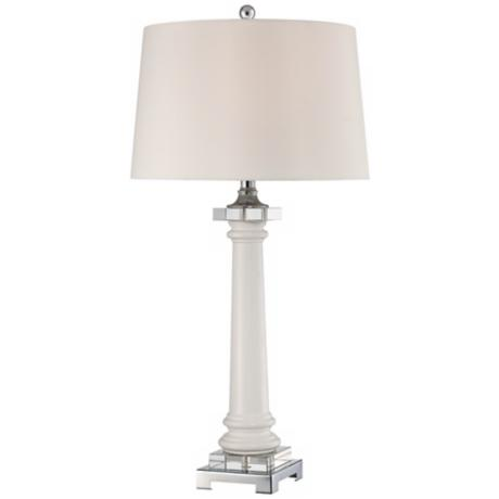 Quoizel Kingsbury White Ceramic Table Lamp