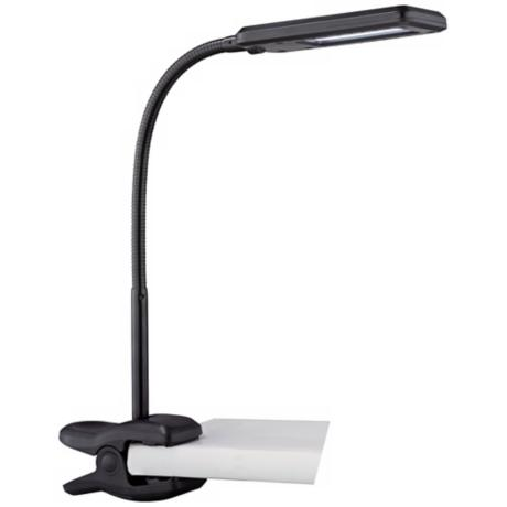 Lite Source Zaiden Black LED Clamp Desk Lamp