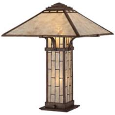 Quoizel Ambler Mica Shade Patina Table Lamp