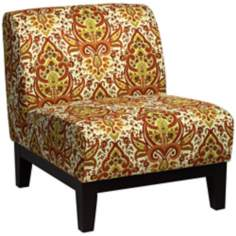Bettina Dubai Saffron Armless Accent Chair