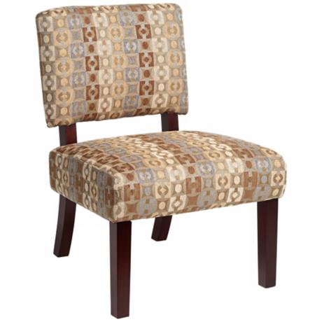 Adena Geometric Java Armless Accent Chair