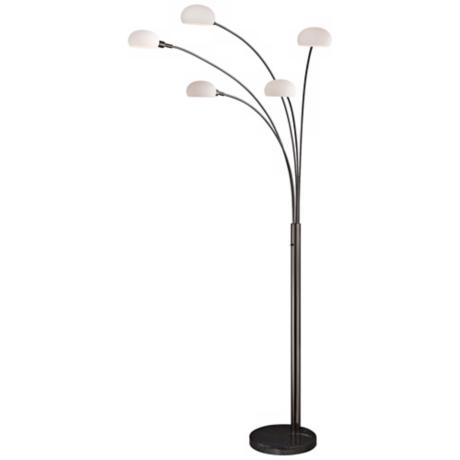Lite Source Ilario II Gun Metal Arch Floor Lamp