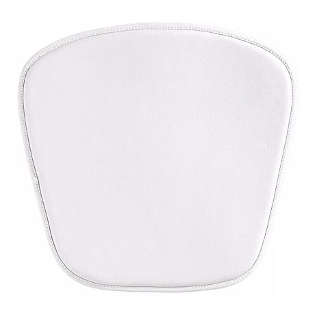 Zuo Modern Wire/Mesh Leatherette White Seat Cushion
