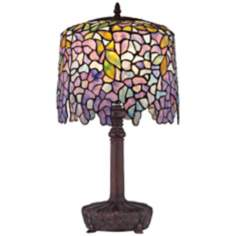 Quoizel Wisteria Purple Glass Table Lamp