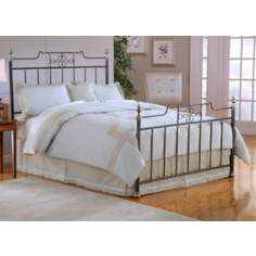 Hillsdale Amelia Frosted Black Spindle Bed Set