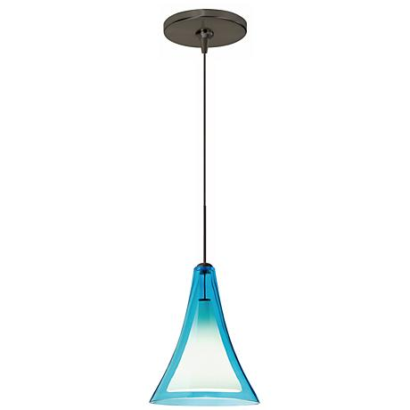 "Melrose II 7 1/2""W Bronze LED Freejack Mini Pendant"