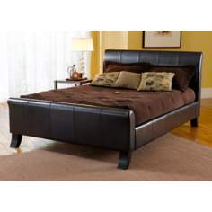 Hillsdale Brookland Leather Sleigh Bed