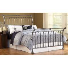 Hillsdale Markham Antique Nickel Sleigh Bed