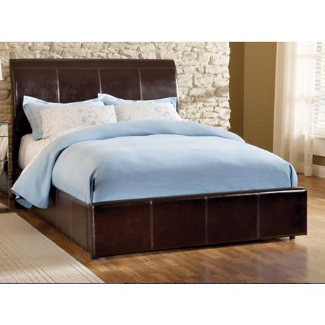 Hillsdale Marmel Brown Faux Leather Storage Bed