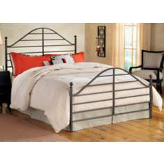 Hillsdale Trenton Magnesium Pewter Metal Bed Set