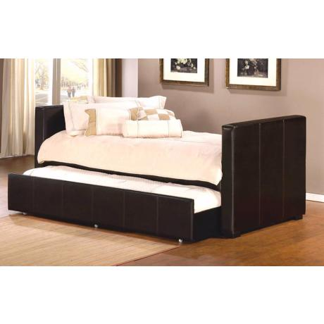 Hillsdale Marcella Bicast Leather Daybed with Trundle Drawer