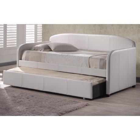 Hillsdale Springfield White Faux Leather Trundle Daybed - #V9663 ...