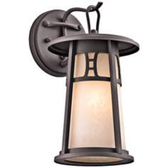 "Kichler Oak Bluffs 11 3/4"" High Bronze Outdoor Wall Light"
