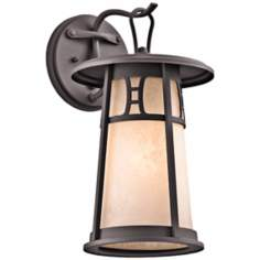 "Kichler Oak Bluffs 15 1/4"" High Bronze Outdoor Wall Light"