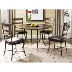 Hillsdale Cameron Round Metal Ladder 5-Piece Dining Set