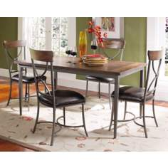Hillsdale Cameron Rectangle X-Back 5-Piece Dining Set