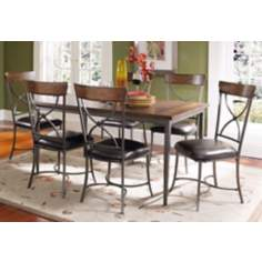 Hillsdale Cameron Rectangle Metal X-Back 7-Piece Dining Set