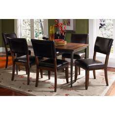 Hillsdale Cameron Rectangle Metal Parsons 7-Piece Dining Set