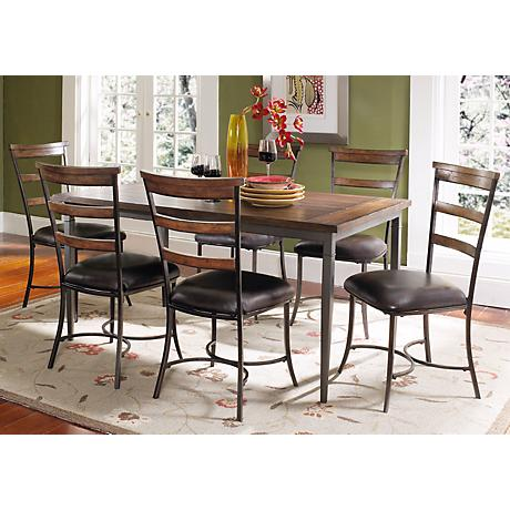 Hillsdale Cameron Rectangle Ladder Back 7-Piece Dining Set
