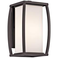 "Kichler Bowen 13"" High Bronze Outdoor Wall Light"